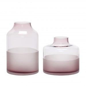 Hübsch Vase, rosa, 2er Set