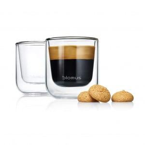 Blomus Set 2 Espresso-Gläser NERO