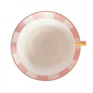 Bombay Duck Teetasse rosa/weiss gestreift