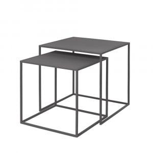 Blomus Set 2 Beistelltische, steel gray, FERA