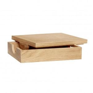 Hübsch Aufbewahrungsbox mit Deckel, Eiche, FSC